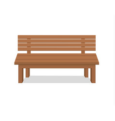 Benches isolated on white background vector