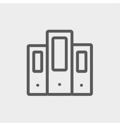 Binder thin line icon vector image