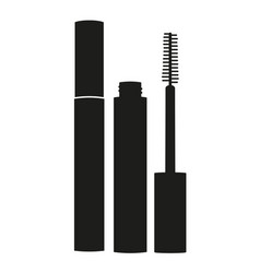black and white mascara silhouette vector image