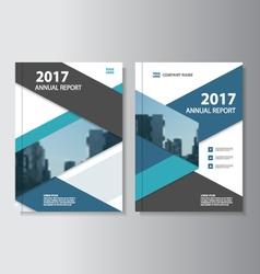Blue black annual report Leaflet Brochure Flyer vector image