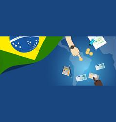 brazil fiscal money trade concept of vector image