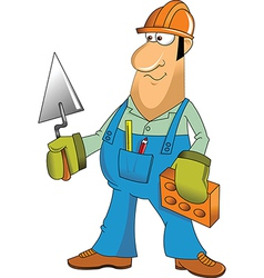 Builder cartoon vector