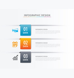 Business index infographics template with 3 data vector
