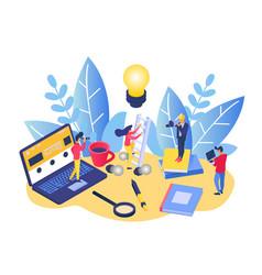 Business people creative teamwork vector