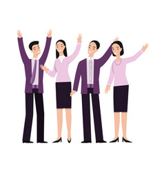 business people hand gesturing vector image