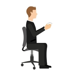 Businessman sitting in a chair isolated icon vector