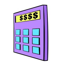 Calculator icon cartoon vector