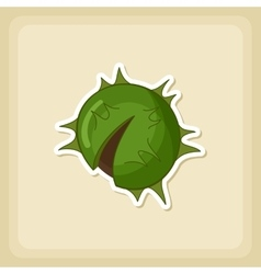 Chestnut icon Harvest Thanksgiving vector