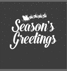christmas decoration seasons greetings vector image