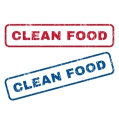 Clean Food Rubber Stamps vector image