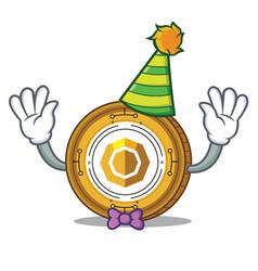 Clown komodo coin mascot cartoon vector