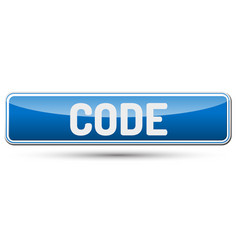 Code - abstract beautiful button with text vector