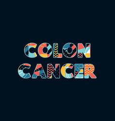 Colon cancer concept word art vector