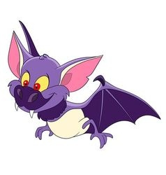 cute bat on halloween vector image