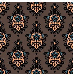 Damask floral design vector