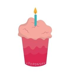 delicious cupcake birthday card vector image