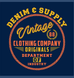 denim supply vintage vector image