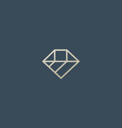Diamond logo design linear brilliant vector