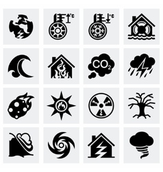 Disaster icon set vector