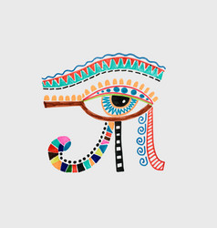 Drawing of ancient egyptian moon sign - left eye vector