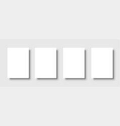 empty white posters set white black template vector image