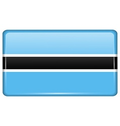 Flags Botswana in the form of a magnet on vector