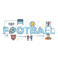 Football word lettering vector image