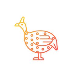 Guinea fowl gradient linear icon vector