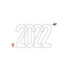 happy new year 2022 year vector image