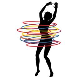 Hoop woman vector image