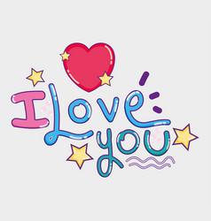 i love you card vector image
