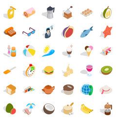 Ice cream icons set isometric style vector