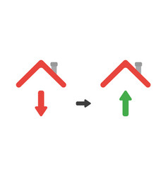 icon concept of arrow moving down and up under vector image