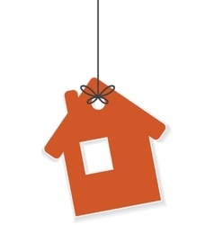 Icon of house hanging on a rope vector image