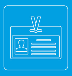 Identification card icon outline vector