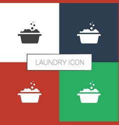 Laundry icon white background vector