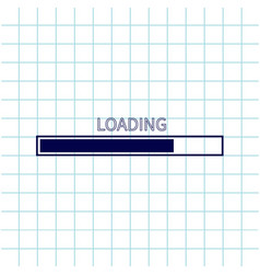 loading progress status bar icon web design app vector image