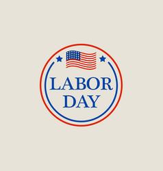 may labor day logo flat style vector image