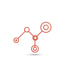 network connection minimal design line and dot vector image