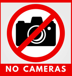 No photo camera sign vector