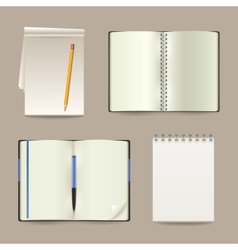 Notebook realistic set vector