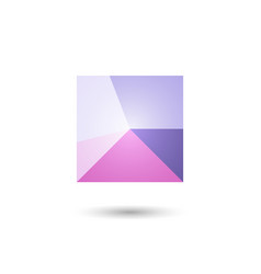 polygonal geometric figurefor web design vector image