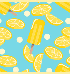 popsicles ice-cream seamless pattern background vector image
