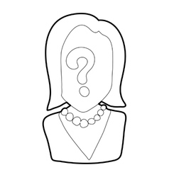 Question icon outline style vector