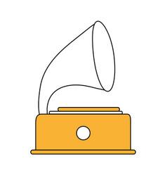 retro gramophone player vector image