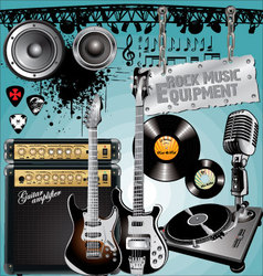 rock music equipment vector image vector image