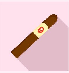 Royale cigar of cuba icon flat style vector