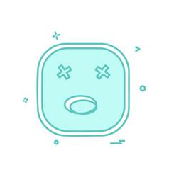 sad emoji icon design vector image