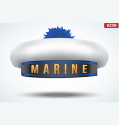sailor beret with pom-pom vector image