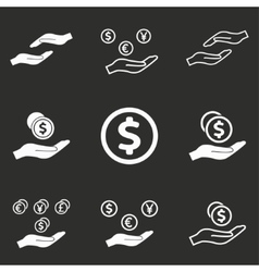 Salary icon set vector